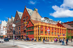 Bergen City Stock Image