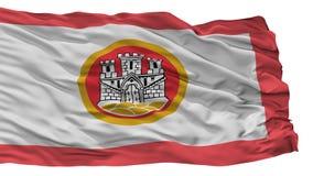 Bergen City Flag, Norvegia, isolata su fondo bianco illustrazione vettoriale