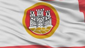Bergen City Flag, Norvegia, vista del primo piano royalty illustrazione gratis