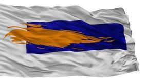 Bergen City Flag, Paesi Bassi, Noord Olanda, isolata su fondo bianco illustrazione vettoriale