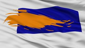 Bergen City Flag, Paesi Bassi, Noord Olanda, vista del primo piano royalty illustrazione gratis