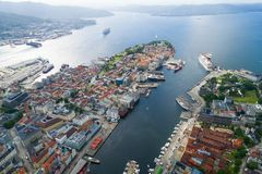 Bergen is a city and municipality in Hordaland on the west coast Royalty Free Stock Image