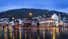Bergen City Norge Fotografering för Bildbyråer