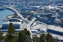 View on the mountain in Bergen, Norway royalty free stock images