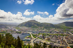 Bergen city, Norway Royalty Free Stock Photography