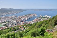 Bergen city in Norway Royalty Free Stock Images