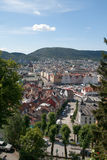 Bergen, the city between the seven mountains Royalty Free Stock Images