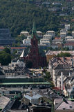Bergen, the city between the seven mountains Royalty Free Stock Photography