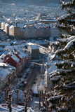 Bergen, the city between the seven mountains Royalty Free Stock Photo