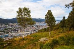 Bergen city Stock Photos