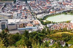 Bergen city. Top view of Bergen city in Norway Stock Photography