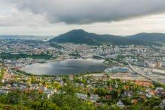 Bergen city view. Stock Photos