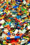Bergen, construção de Lego durante o Thall envia raças o 25 de julho de 2014 Noruega foto de stock