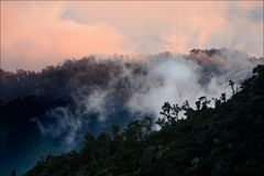 Bergen Costa Rica bij een dageraad. 3 Royalty-vrije Stock Foto