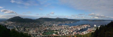Bergen da sopra Fotografia Stock
