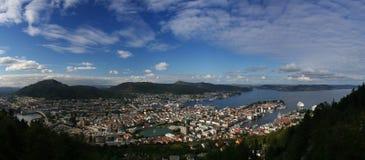 Bergen da sopra Immagini Stock Libere da Diritti