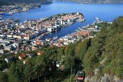 Bergen dalla collina Immagini Stock Libere da Diritti