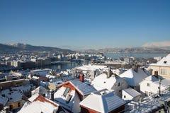 Bergen dans la neige Images libres de droits