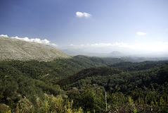 Bergen de Balkan de Zuid- van Albanië stock foto