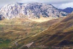 Bergen in de herfst Nationaal aardpark Stock Afbeelding