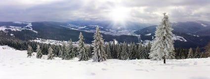 Bergen in de sneeuw Stock Afbeeldingen