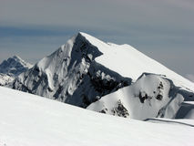 Bergen in de winter Royalty-vrije Stock Afbeeldingen