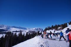 Bergen in de winter royalty-vrije stock fotografie