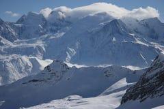 Bergen in de winter Stock Foto