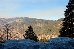 Bergen in de winter stock fotografie