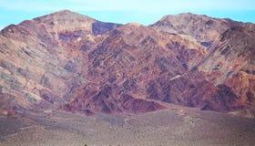 Bergen in de Woestijn van Doodsvallei, Californië Stock Fotografie
