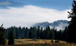 Bergen in de Wolken Stock Afbeelding