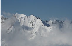Bergen in de Wolken Stock Foto's