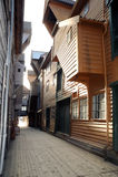 Bergen di legno Immagini Stock