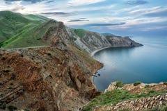 Bergen dichtbij het overzees Panorama van de Krimbergen Royalty-vrije Stock Fotografie