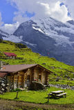 Bergen dichtbij Oeschinensee, Kandersteg Berner Oberland zwitserland Royalty-vrije Stock Foto's
