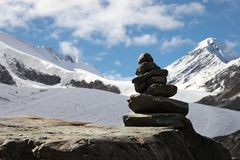 Bergen en gletsjer. Royalty-vrije Stock Afbeelding