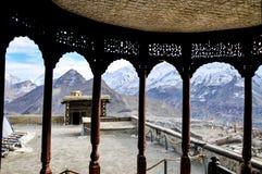 Bergen en gletsjerscène van de veranda Stock Foto's