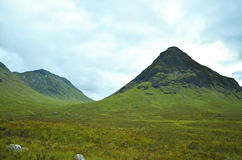 Bergen en grasrijk landschap in Schotland Royalty-vrije Stock Fotografie