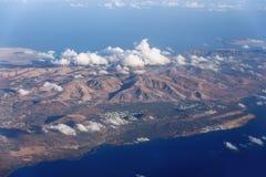 Bergen en kustlijn van eiland Lanzarote Royalty-vrije Stock Fotografie
