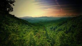Bergen en landschap in Tennessee Bomen royalty-vrije stock foto's