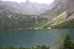 Bergen en meer in Polen Stock Afbeelding