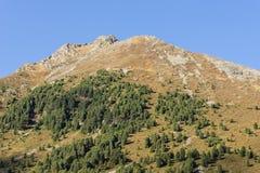 Bergen en piekenlandschap KÃ ¼ htaigletsjer, natuurlijk milieu Wandeling in de Stubai-Alpen Sellrainvallei, Tirol, Oostenrijk Stock Foto