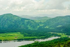 Bergen en rivieren van Altai royalty-vrije stock fotografie