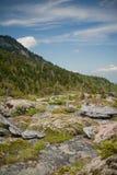 Bergen en rotsen in Noord-Carolina, de V.S. Royalty-vrije Stock Afbeeldingen