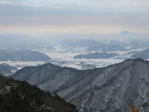 Bergen en valleien Stock Foto's