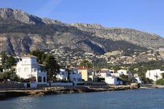 Bergen en Villa's Costa Blanca Spain Stock Afbeeldingen