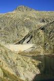 Bergen en water in Tena-vallei, de Pyreneeën Panticosa Stock Foto