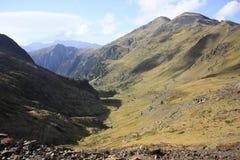 Bergen en water in Tena-vallei, de Pyreneeën Urdiceto Royalty-vrije Stock Fotografie