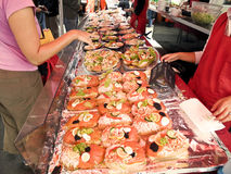 Bergen Fishmarket. One of the typical counter tops in Bergen Fishmarket Stock Photography