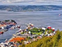 Bergen, Floyen View, Harbor, Norway Stock Photos